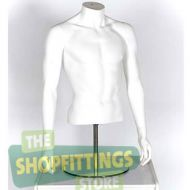 Male Torso Mannequin No Head With Arms White 1